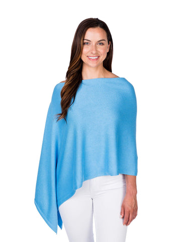 Cerulean Cotton/Cashmere Dress Topper
