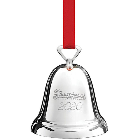 2020 Christmas Bell Ornament in Silverplate