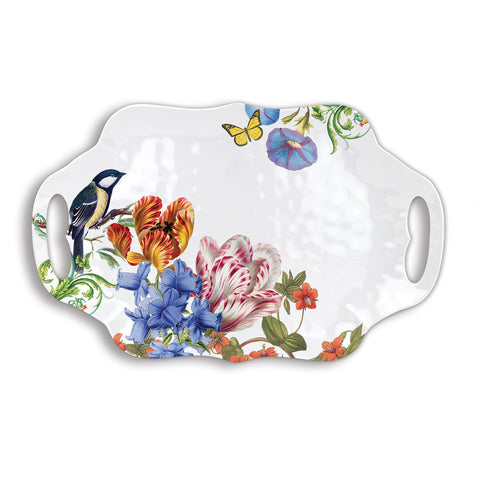 Summer Days Melamine Serving Tray with Handles