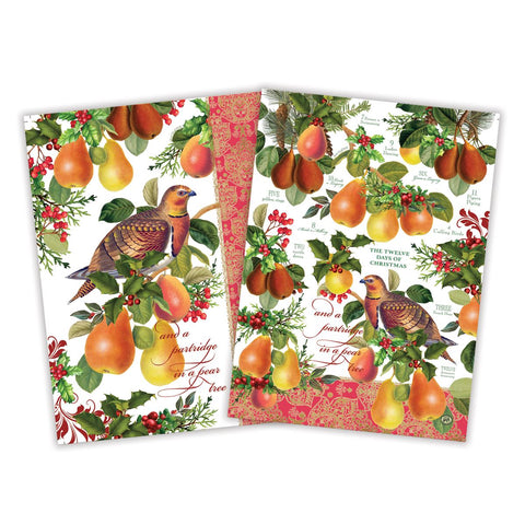 In a Pear Tree Kitchen Towel