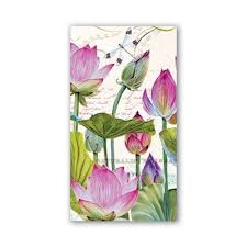 Water Lilies Hostess or Dinner Napkin