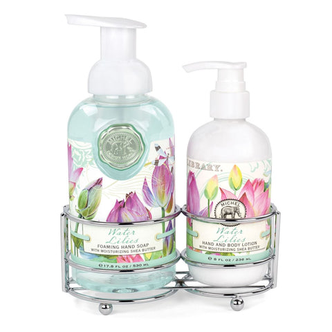 Water Lilies Handcare Caddy Set