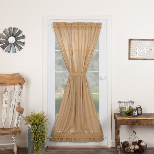 Tobacco Cloth Fringed Door Panel
