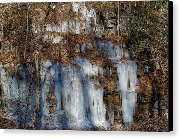 Frozen Falls - Canvas Print