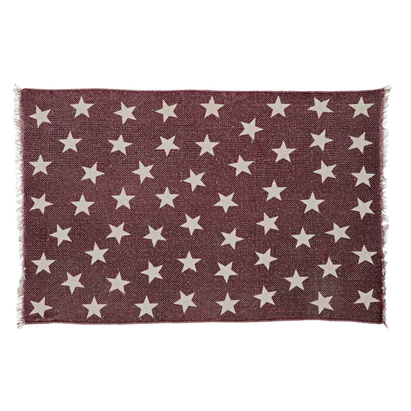 Antique Red Star Rectangle Rug
