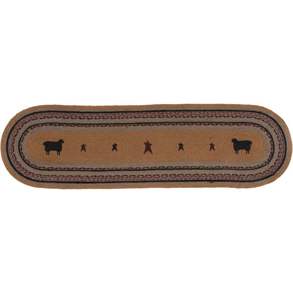 Heritage Farms Sheep Jute Oval Runner