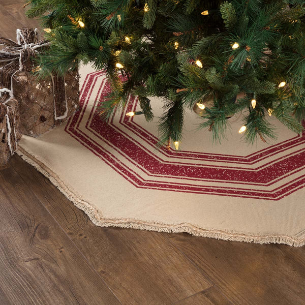 Vintage Burlap Stripe Tree Skirt