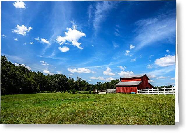 Little Red Barn - Greeting Card