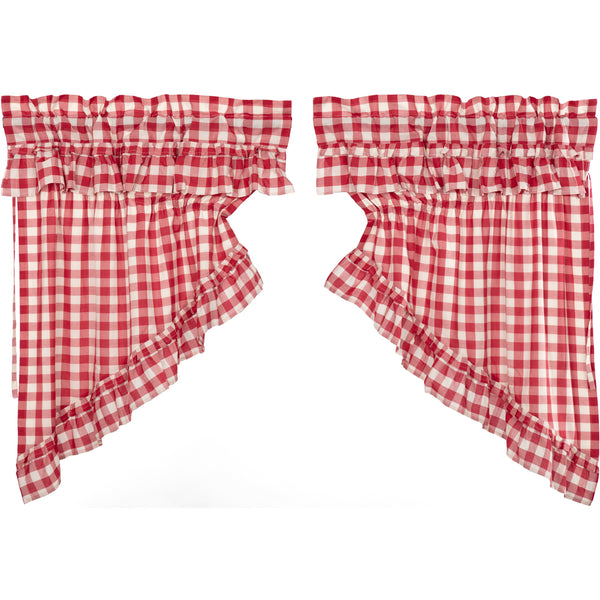 Annie Buffalo Check Ruffled Prairie Swag Set