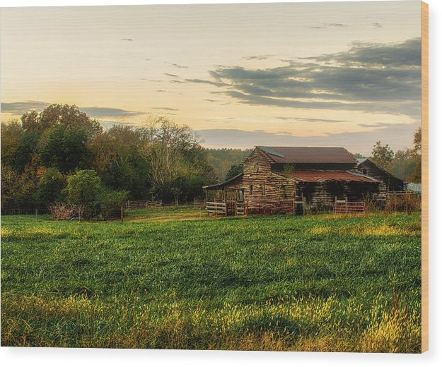 Sunset Over Dogwood Ridge - Wood Print