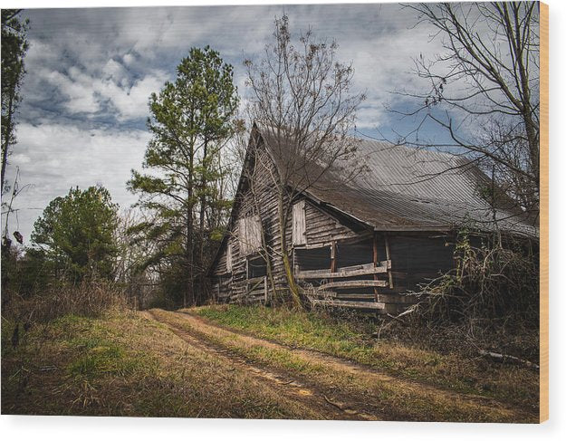 The Old Barn - Wood Print