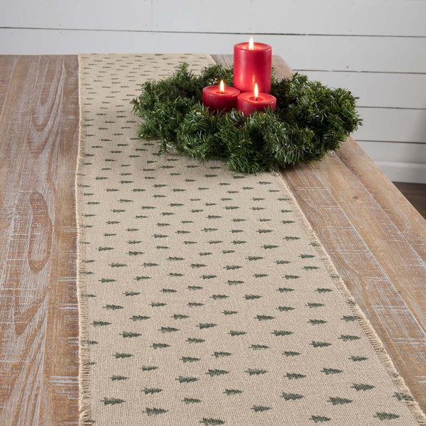 Vintage Burlap Tree Runner