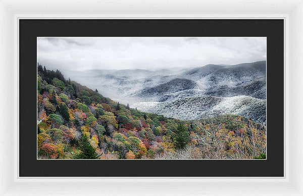 Winter Creeps In - Framed Print