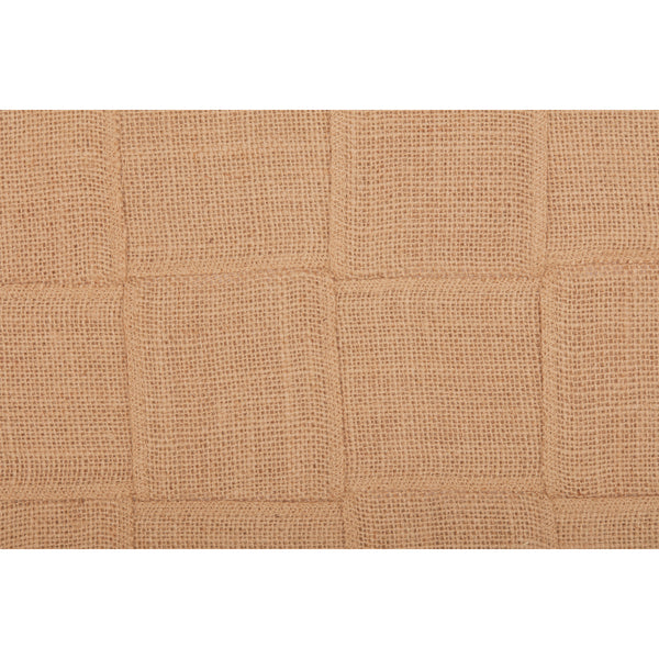 Jute Burlap Natural Basket Weave Runner