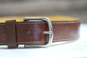 simple switch brown leather belt