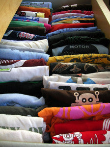 a collection of children's shirts
