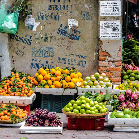 fresh fruit for sale at a street stall