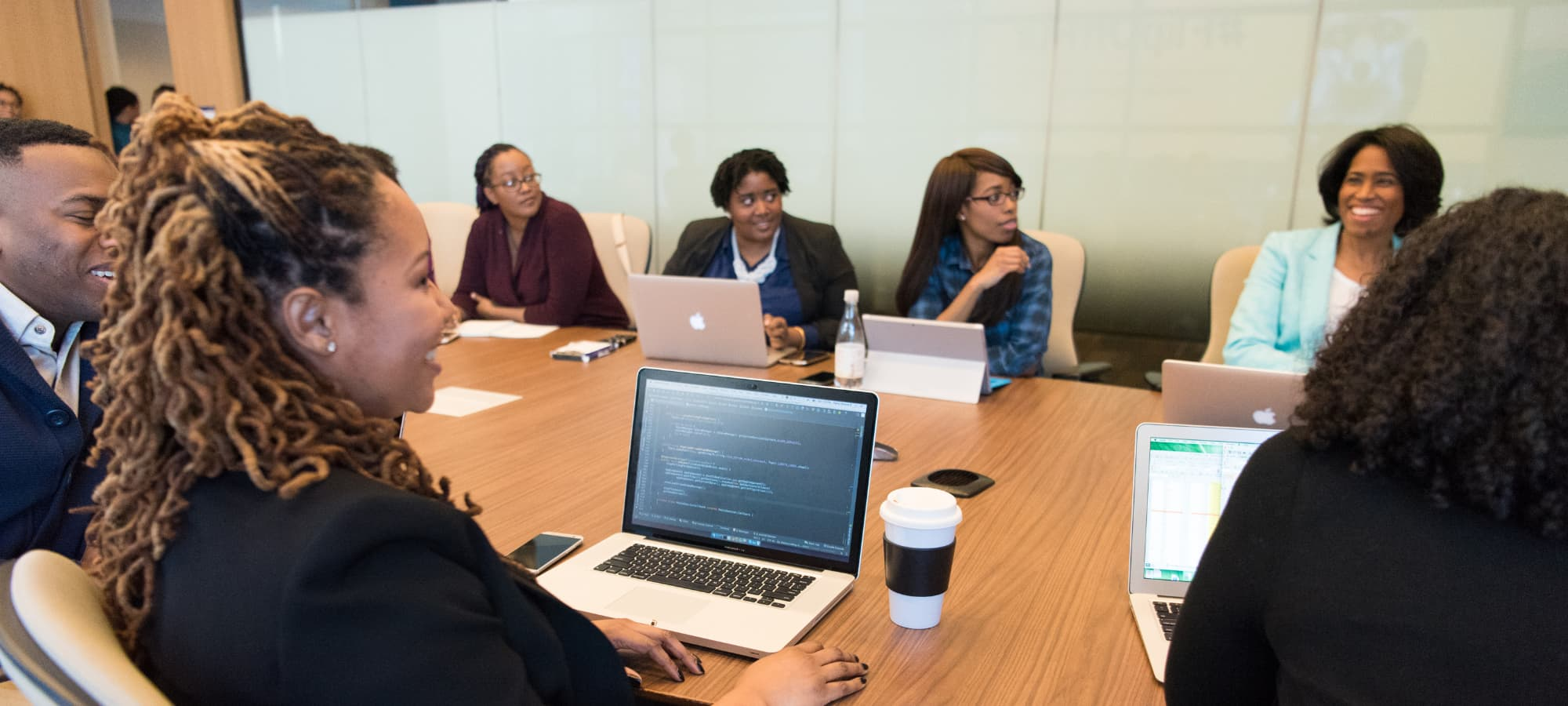 a meeting of African American business owners