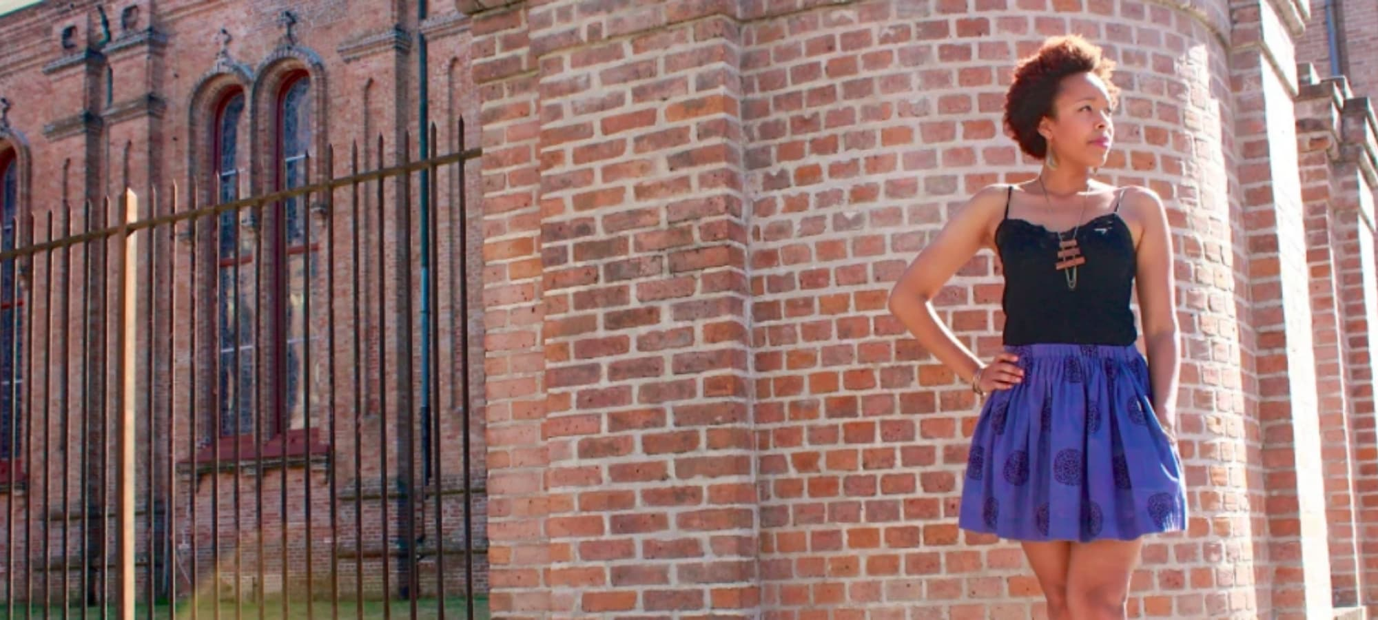 a model showcasing Passion Lilie clothing