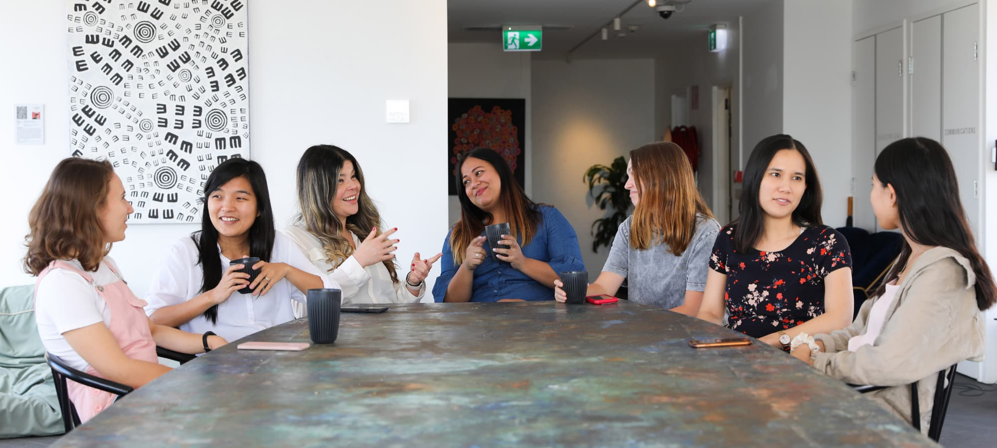 a meeting of women business owners