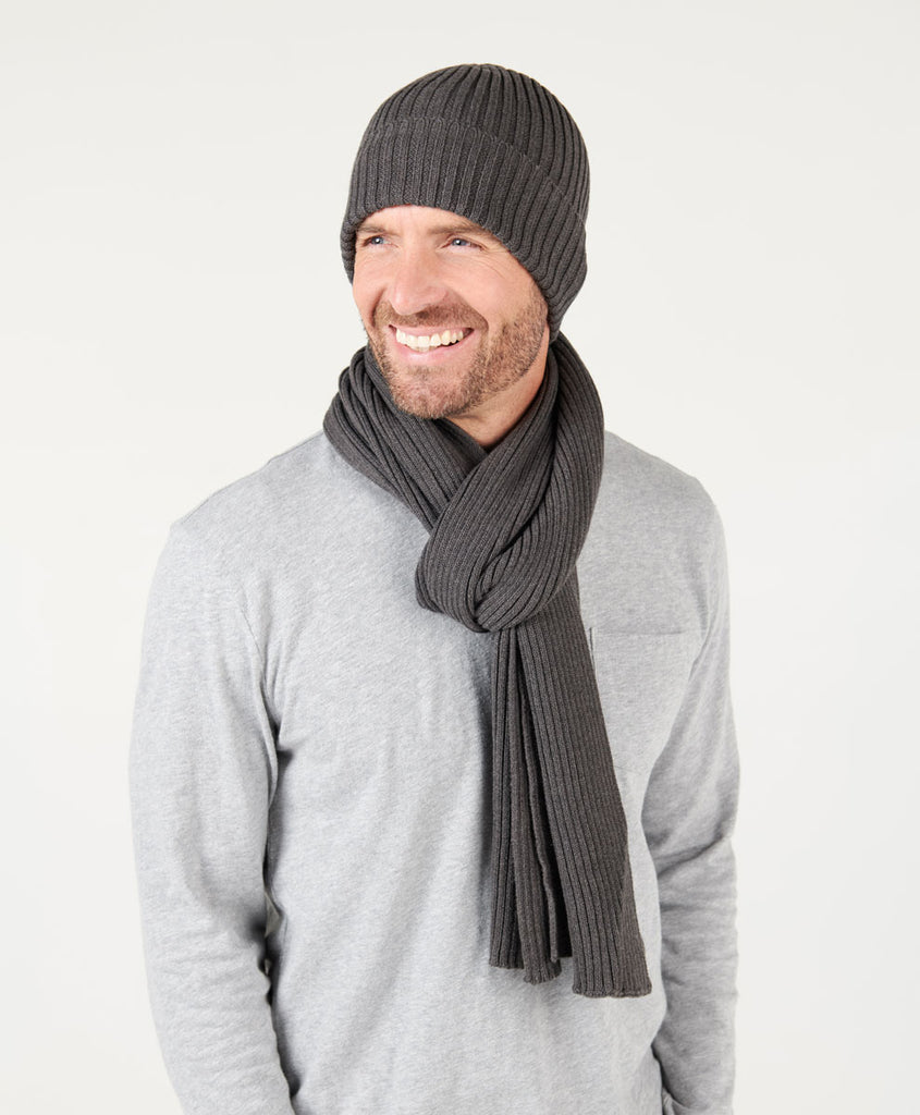 Ribbed Knit Hat & Scarf Set