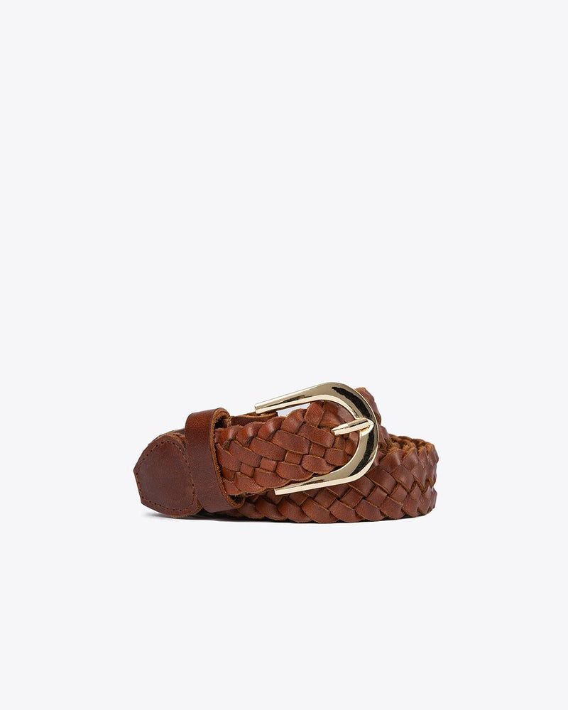 Talia Braided Belt Brandy