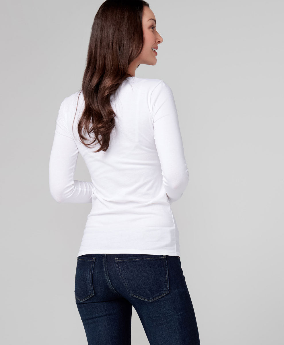 Stretch-fit Long Sleeve Tee