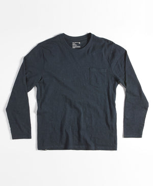 Slub Long Sleeve Pocket Tee