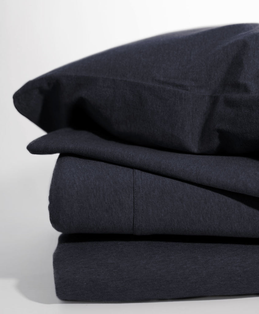 Indigo Heather Favorite-Tee Sheet Set