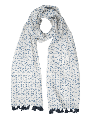 Anchor Blue Scarf - Passion Lilie - Fair Trade - Ethically Made Cotton ?id=5432791269434