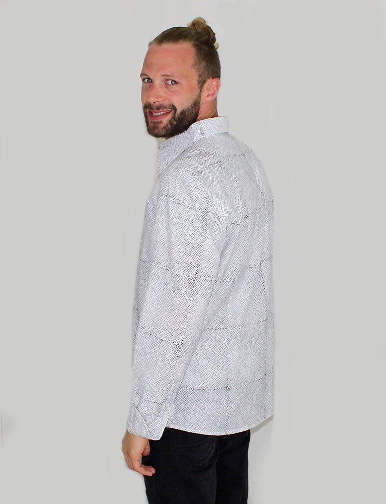 Avery Men's Button Down Shirt - Organic Cotton - Passion Lilie - Fair Trade - Ethically Made Cotton ?id=8074278436922
