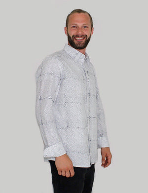 Avery Men's Button Down Shirt - Organic Cotton - Passion Lilie - Fair Trade - Ethically Made Cotton ?id=8074278666298