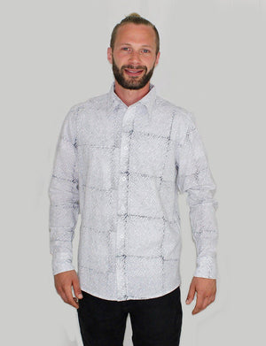 Avery Men's Button Down Shirt - Organic Cotton - Passion Lilie - Fair Trade - Ethically Made Cotton ?id=8074277879866
