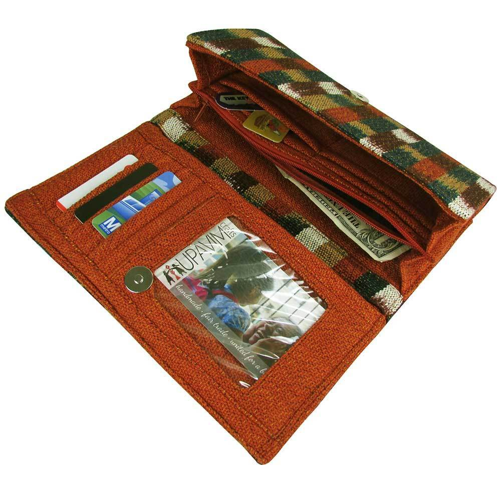 Fair Trade Organizing Clutch Wallet Interior