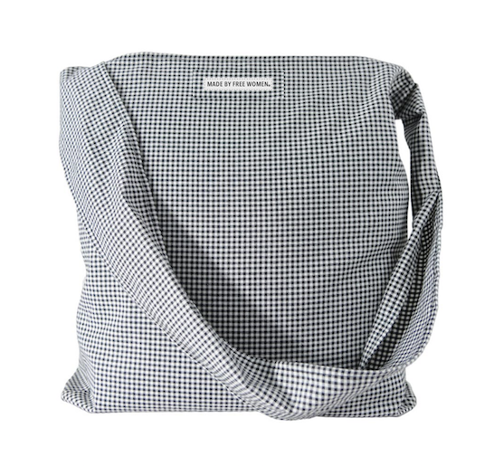 BOYFRIEND SHIRT BAG HOUNDSTOOTH