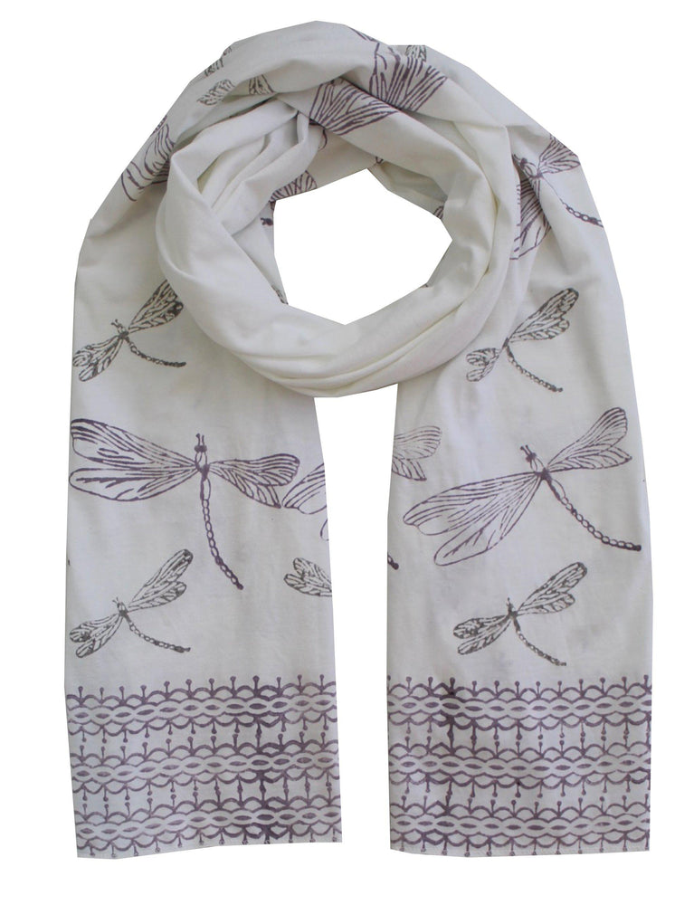 Dragonfly Organic Jersey Scarf