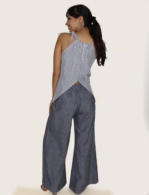 Chambray Pants - Passion Lilie - Fair Trade - Ethically Made Cotton