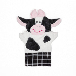 Cow Puppet Washcloth