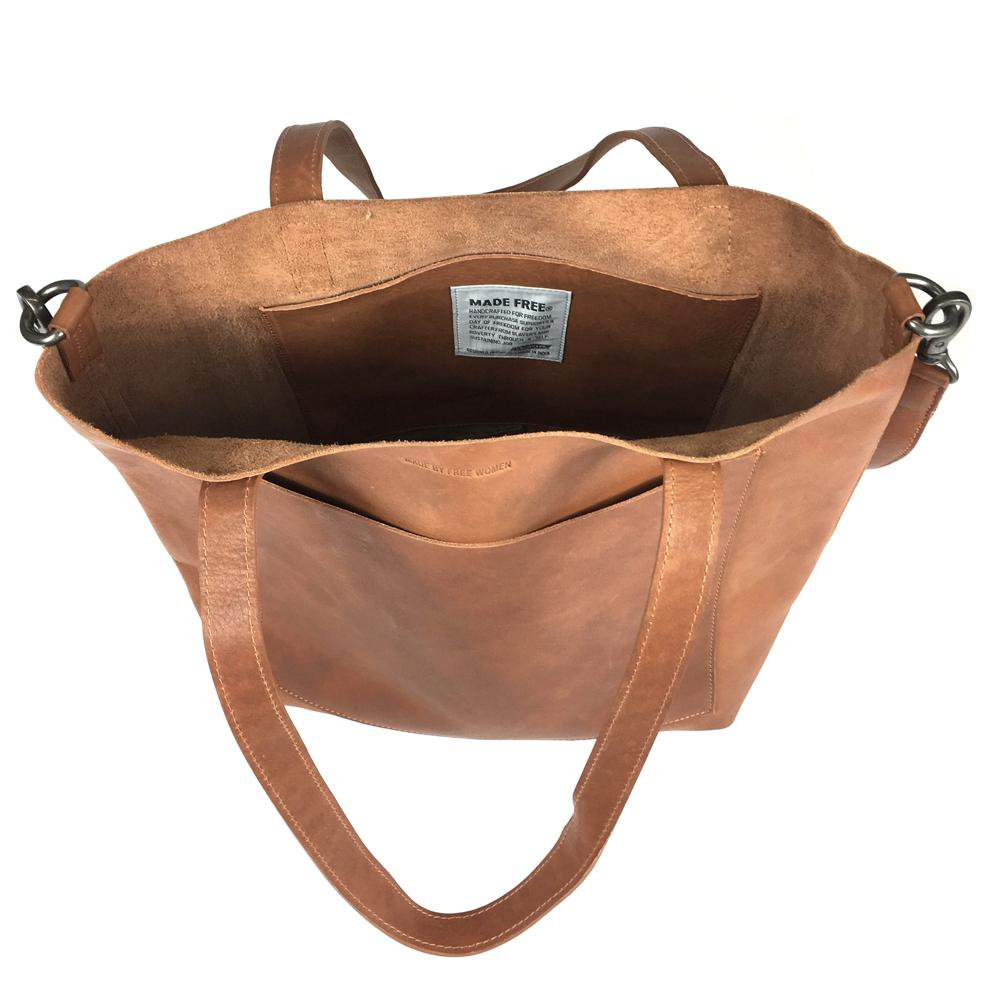 DAY TOTE LEATHER MEDIUM | CAMEL