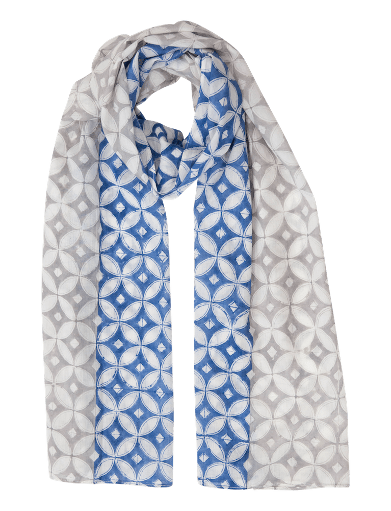 Blue & Grey Diamond Scarf - Passion Lilie - Fair Trade - Ethically Made Cotton ?id=5432999411770