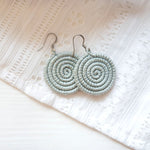 Woven Disc Earrings – Small