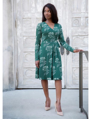 Florentina Organic Jersey Wrap Dress- Pre-Order - Passion Lilie - Fair Trade - Ethically Made Cotton