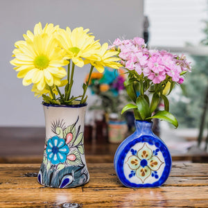 San Antonio Palopo Ceramics Vase Blue and Green in Use Lifestyle ?id=14052232462389