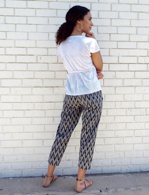 Gray Chevron Crop Pants - Passion Lilie - Fair Trade - Ethically Made Cotton ?id=3690461003834