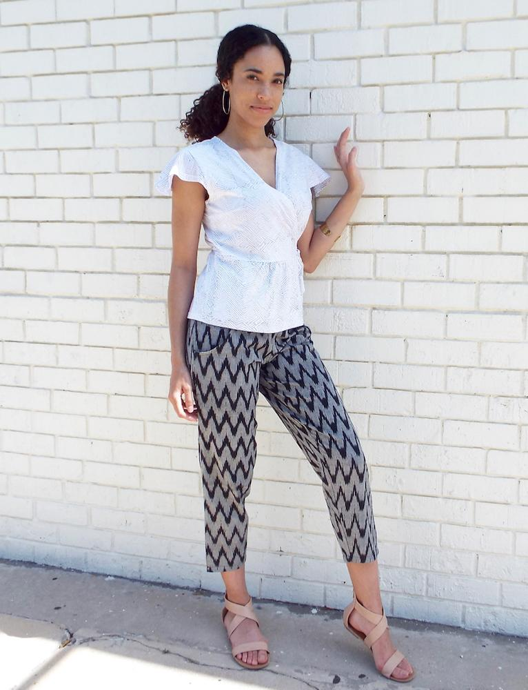 Gray Chevron Crop Pants - Passion Lilie - Fair Trade - Ethically Made Cotton ?id=3690462773306
