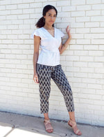 Gray Chevron Crop Pants - Passion Lilie - Fair Trade - Ethically Made Cotton ?id=6133723365434