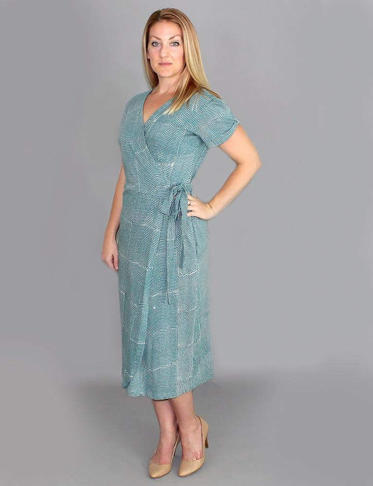 Halley Organic Jersey Wrap Dress