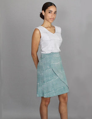 Halley Organic Jersey Skirt - Passion Lilie - Fair Trade - Ethically Made Cotton ?id=6371910287418