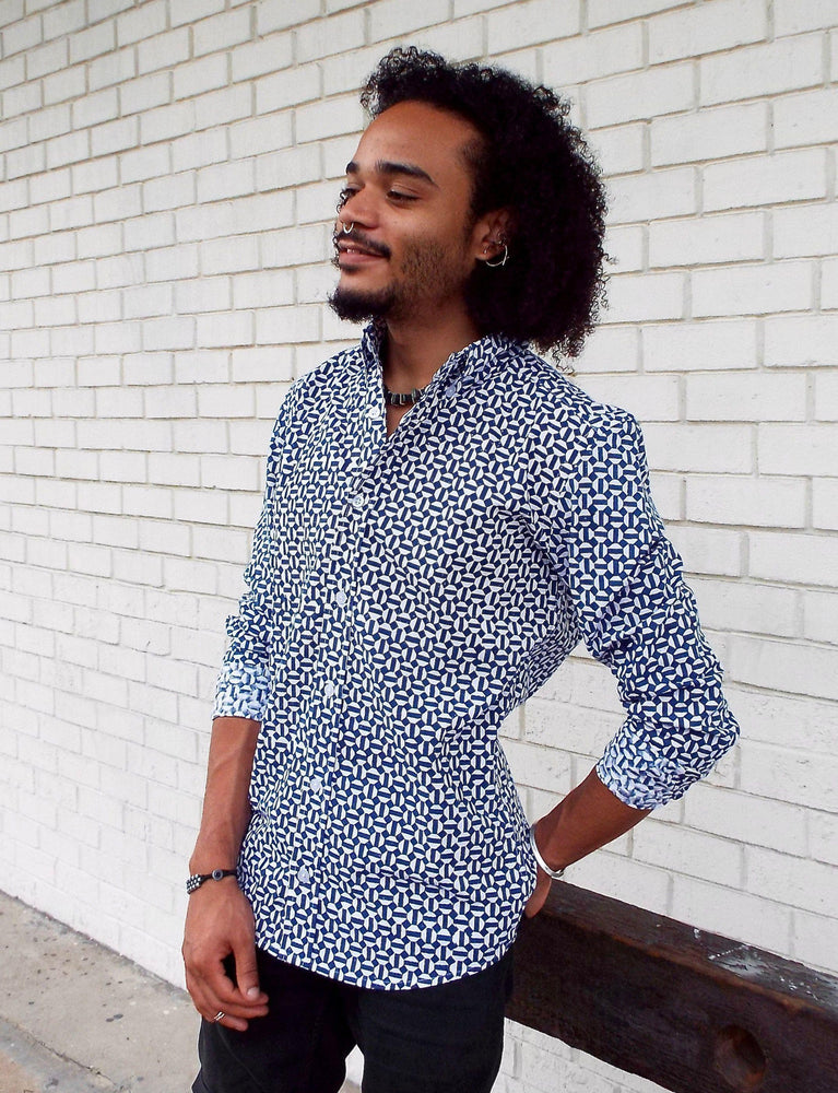 Hex Flex Men's Button Down Shirt - Organic Cotton