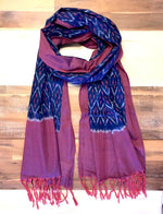 Indigo and Magenta Scarf - Passion Lilie - Fair Trade - Ethically Made Cotton ?id=22917340689